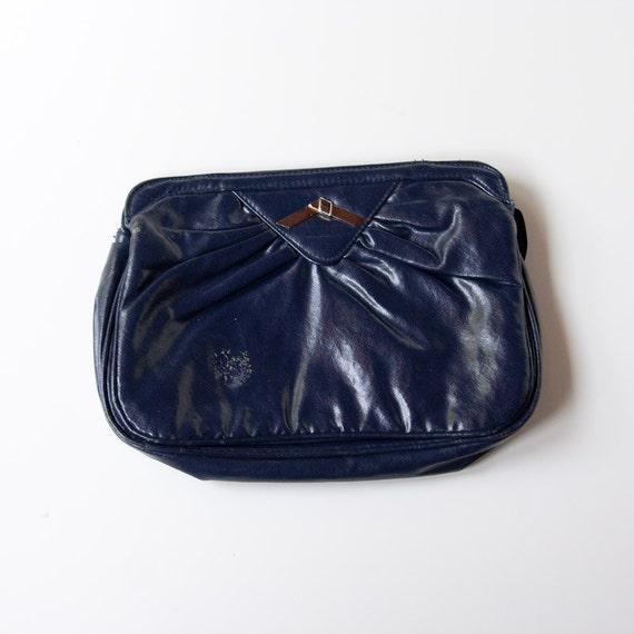 Blue Clutch - Vintage Accessory Navy Fashion Basic