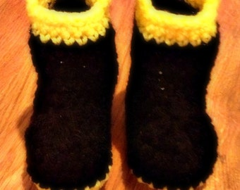 FIREMAN or MUD Boot Booties Crib Shoes Baby Shower Gift (Ready to Ship)