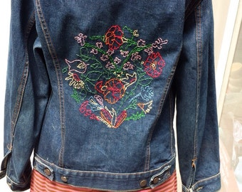 Levi's Rare 60's Type III Jacket with Embroidered Back - Sale!
