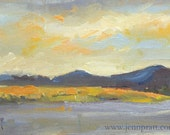 Klamath Basin #2 - 5x7 Original Oil Painting