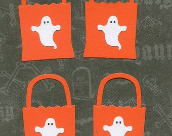 Lot of 4 Quickutz Halloween Treat Bags Die Cuts