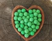 Felted Wool Balls, Felt Beads, Emerald Green Needle Felting DIY Craft Crafting Woodland
