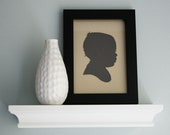 Personalized Papercut Portrait - Custom Children's Silhouette (choose size & color) Christmas Gift Idea