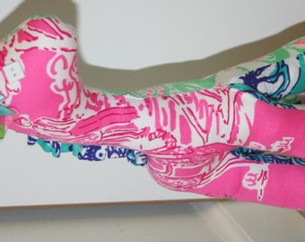 Giraffe made with Lilly pulitzer fabric