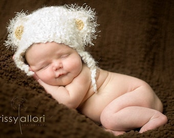 Teddy Bear Hat 0-3mo Unisex Photo Prop or Gift