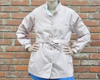 Vintage 1970's belted lightweight coat // jacket
