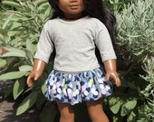18 inch Doll Clothes - Girl Dolls Clothes  - School Outfit - Skirt Outfit - Bubble Skirt and Shirt