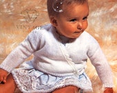 INSTANT DOWNLOAD under a dollar-baby wrapover ballet jacket vintage knitting pattern-pdf email delivery