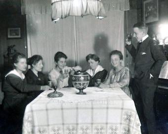 1919 Vintage German photograph of a celebration