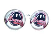 Cuff Links Atlanta Braves-MLB-Baseball-Many Logos-Silver-Handmade-Made in USA-Cufflink Box-Jewery Box-Gift Box-Wedding-Keepsake-Gift-Men