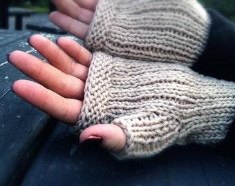 Knitting Pattern for Cabled Handsies Fingerless Gloves
