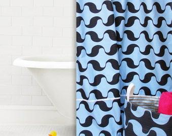 Shower Curtain , Cotton Shower Curtain , Bath Décor , Ready To Ship