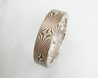 One of a kind Mokume Ring size 7, 5mm