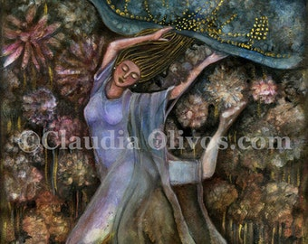 Spiritual Art- Inspirational wall art - GoddessArt - Mother Earth - Gaia - Pachamama - Goddess Gifts for Her