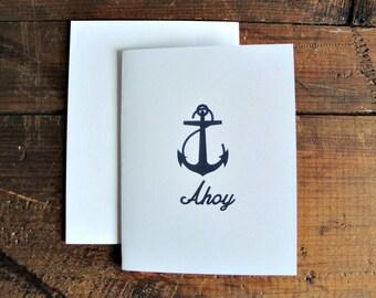 Ahoy - Greeting Card