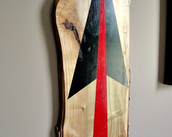 Broad Arrow Graphic Artwork - Large Wooden Wall Art