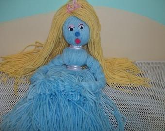 OOAK Blonde Bombshell Yarn Doll