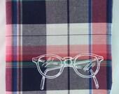 Sunday Plaid Eyeglasses Pocket Square