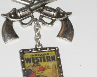 Dog Chain Western Necklace with Pendant & Pistols