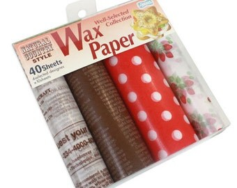 Japanese Wax Paper Set - 40 sheets in 4 deigns - Natural Country Style