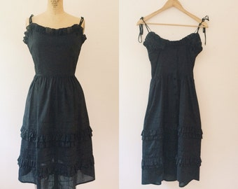 vintage sundress / polka dot dress / Acacia Polka Dot dress