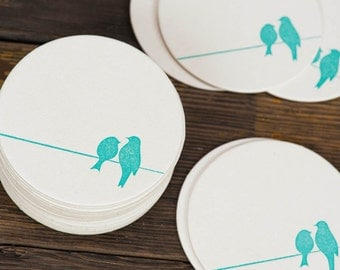 Mad Men Letterpressed Paper Coasters by ruffhouseart on Etsy