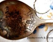 Antique Serving Spoon and Gravy Ladle