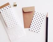 Polka Dot Mini Flat Cards & Minilopes - stationeryboutique