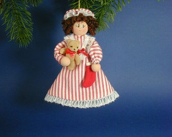 Nighttime Nelle Clothespin Ornament;  Night before Christmas; Twas the Night Before Doll; Night Nellie Clothespin ornament