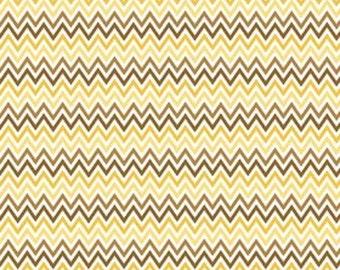 Yellow Chevron Indie Chic Fabric - Riley Blake