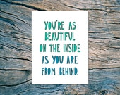 Beautiful From Behind - A2 folded note card & envelope