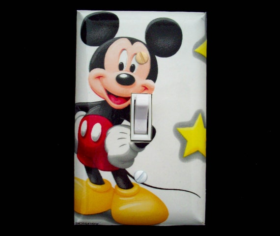 Light Switch Cover Disney Mickey Mouse Childrens Decor