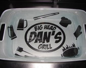 MAN PAN - Personalized 9 X 13 Pyrex Casserole Dish with Lid - Perfect Father's Day Gift!