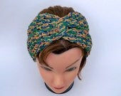 Twisted Knot Headband - Crochet Head Wrap - Turban Workout Yoga Hairband In Summer Colors - Women's Headwear