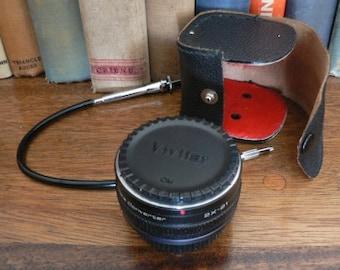 vintage camera lens  ... VIVITAR Tele Converter and Remote SHUTTER combo Olympus  ...