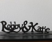Wedding picture prop, metal name plate, custom established sign, iron anniversary gift idea, valentine gift,6th anniversary iron name plate