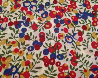 liberty of london-  fat 1/4 -wiltshire - red, white, blue and mustard