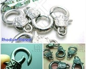 Bulk sales -25% / B123 / 40 Pc / 23 x 13 mm - Textured Chunky Lobster Clasp / Key Chain Findings