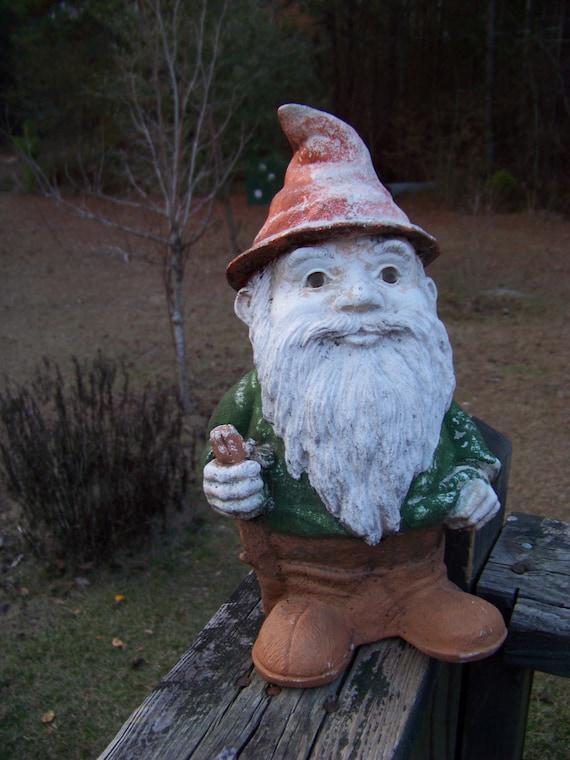 Gnome Garden: Vintage Garden Gnome...Outdoor Decor...Elf...Fairy...Garden
