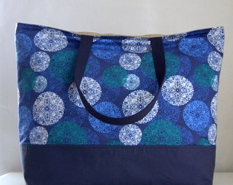 Roscoe Blue XL Extra Large Beach Bag / BIG Tote Bag - Ready to Ship