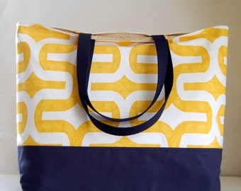 Yellow Embrace XL Extra Large BIG Tote Bag / Beach Bag - Ready to Ship
