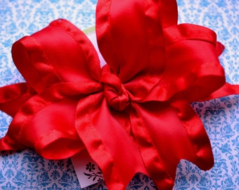Red Double Ruffle XL Diva Bow