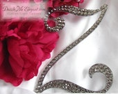 Grey Cake Topper - Wedding Cake Topper - Personalized Monogram Letter Cake Topper - Grey Crystal Cake Topper - Bride and Groom