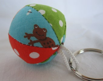 Mini Jingle Ball Keychain in FROG Fabric