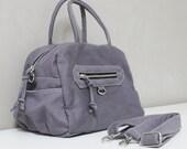 New Year SALE - 20% OFF HerMate in Gray / Sling bag / Handheld / Hip bag / Purses / Hobo / Handbags / Purses / Women / For her / Gift ideas