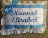 Personalized Embroidered Name Pillows