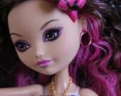 5 pair X-Large Colored Hoop Earrings for Petite Slimline Dolls 31 colors