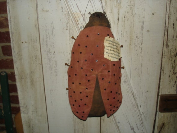 Ladybug Door Greeter, Primitive, Rustic, Spring, Summer, Ladybugs, OFG, FAAP, HAFAIR, Dub