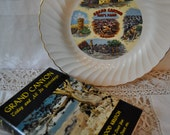 Grand Canyon Vintage Souvenir Plate And Grand Canyon Today And All Its Yesterdays Vintage 1950s Book