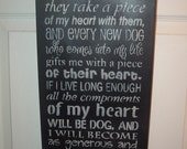 It Came To Me Dog Wall Hanging Stenciled Sign